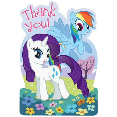 Pony Note Cards - My Little Pony Friendship Magic Thank-You Notes, 8pk