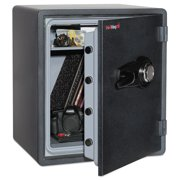 FireKing One Hour Fire and Water Safe with Combo Lock, 2.14 cu. ft., Graphite