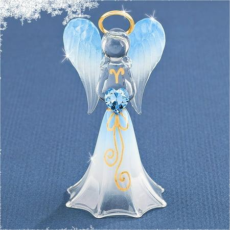 Blue Angel w/Swarovski Elements Glass Figurine ()
