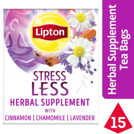 lipton stress less herbal supplement tea bags 15 count. Black Bedroom Furniture Sets. Home Design Ideas