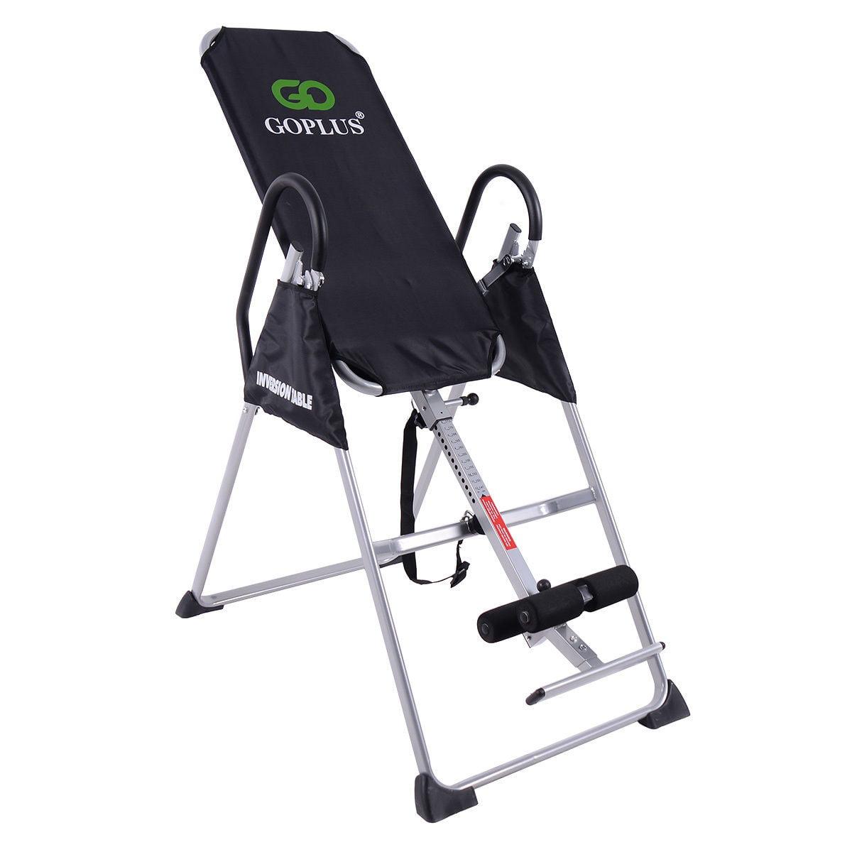 Goplus Foldable 2017 Premium Gravity Inversion Table Back...