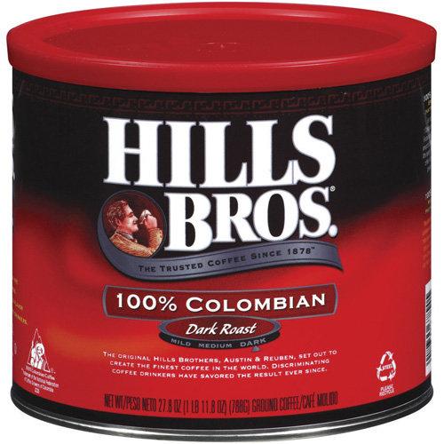 Hills Bros 100% Colombian Dark Roast Coffee, 27.8 oz