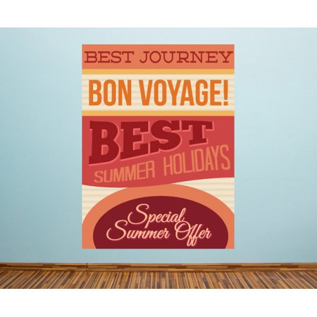 Best Journey Bon Voyage! Best Summer Holidays Special Summer Offers Summer Typography Wall Decal - Vinyl Decal - Car Decal - Idcolor001 - 25