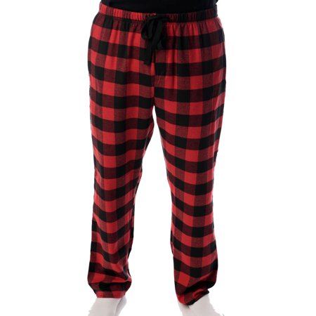 best place sneakers for cheap purchase newest #followme Men's Flannel Pajamas - Plaid Pajama Pants for Men (Black / Red -  Buffalo Plaid, Large)