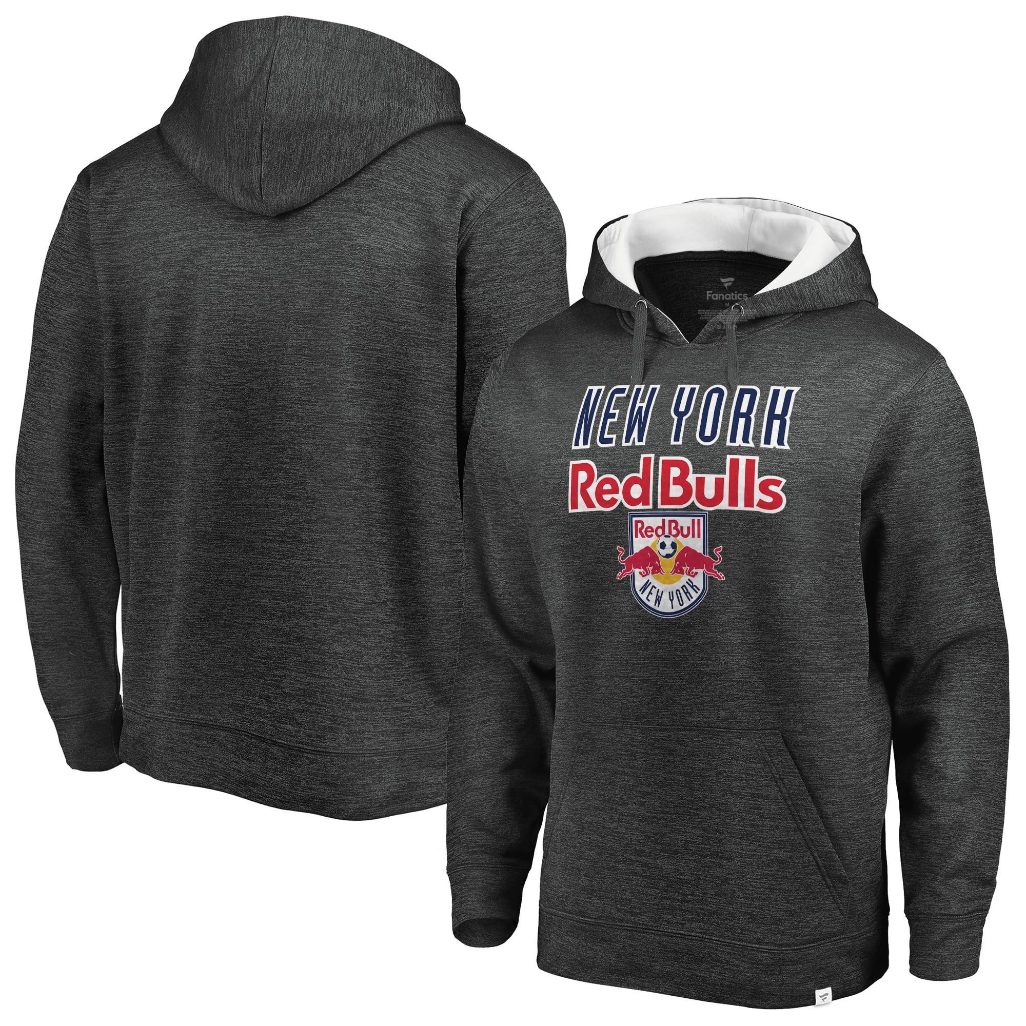 New York Red Bulls Fanatics Branded Pullover Hoodie - Heathered Gray