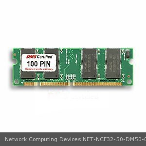 Network Computing Devices NCF32-50 equivalent 32MB DMS Certified Memory 100 Pin SDRAM 3.3V, 32-bit, 1k Refresh SODIMM - DMS