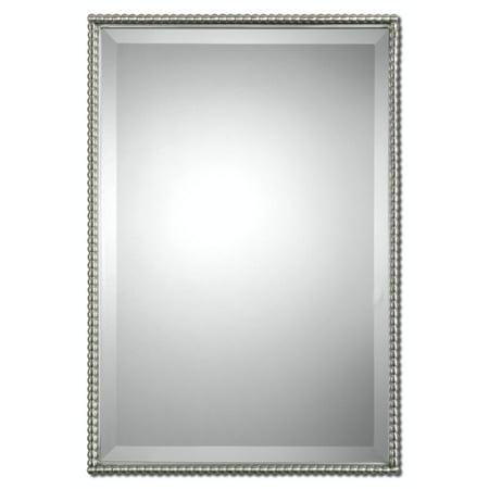 31 elegant rectangular brushed finish wall mirror with - Decorative trim for bathroom mirrors ...