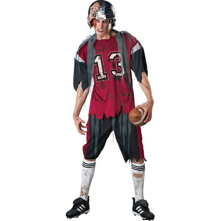 Adult Dead Zone Zombie Football Player Costume by Incharacter Costumes LLC? - Zombie Baseball Player Halloween