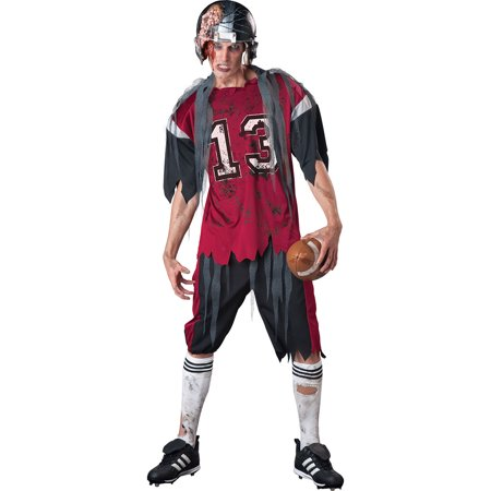 Adult Dead Zone Zombie Football Player Costume by Incharacter Costumes LLC? - Vintage Baseball Player Costume