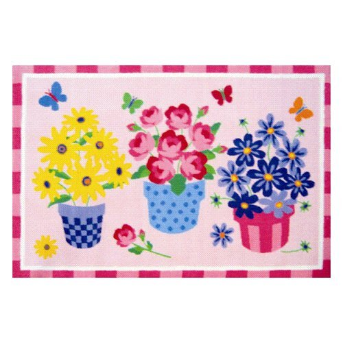 L.A. Rugs Blossoms & Butterflies Kids Area Rug