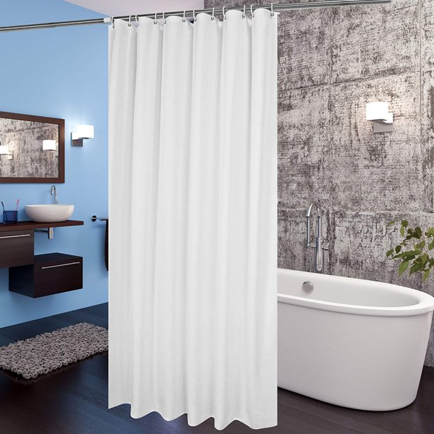 Extra Long Shower Curtain Liner Aoohome Mildew Resistant Fabric Shower Curtain For Hotel With Weighted Hem Wat Walmart Com Walmart Com