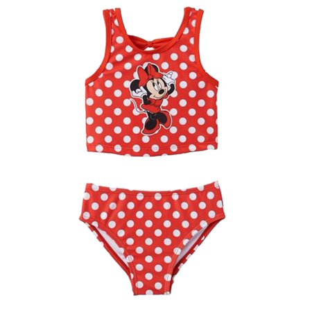 aa5da88e1106f Minnie Mouse - Disney Infant & Toddler Girls Red Polka Dot Minnie Mouse 2PC Swimming  Suit - Walmart.com