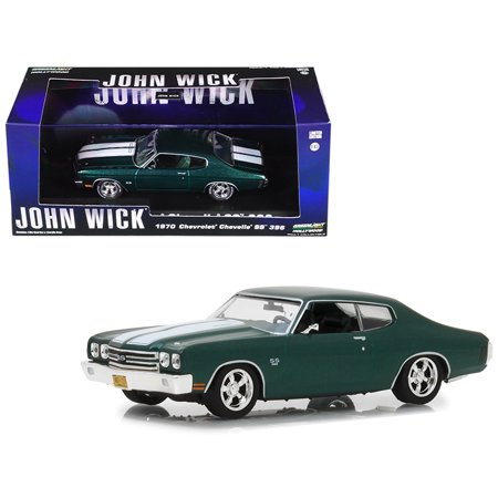 1970 Chevrolet Chevelle SS 396 Green with White Stripes