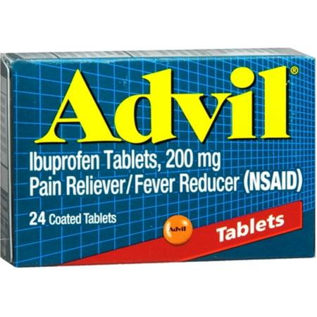 Advil 200 mg Coated Tablets 24 ea (Pack of 3)