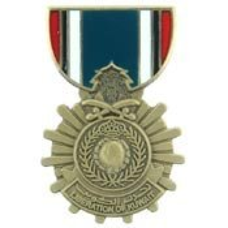 United States Armed Forces Mini Award Medal Pin - Liberation Kuwait Medal