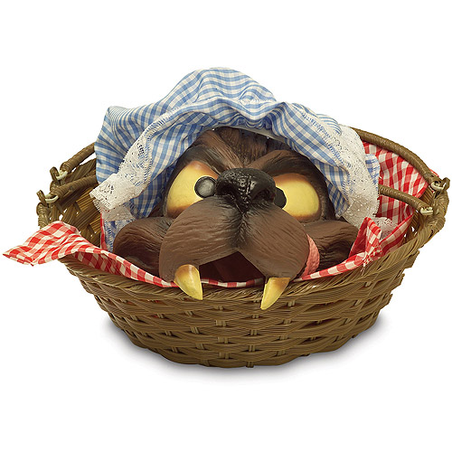 Wolf Head in a Basket Halloween Accessory