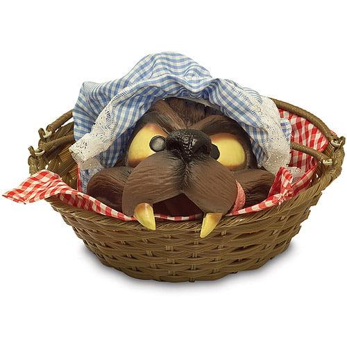 Wolf Head in a Basket Halloween Accessory