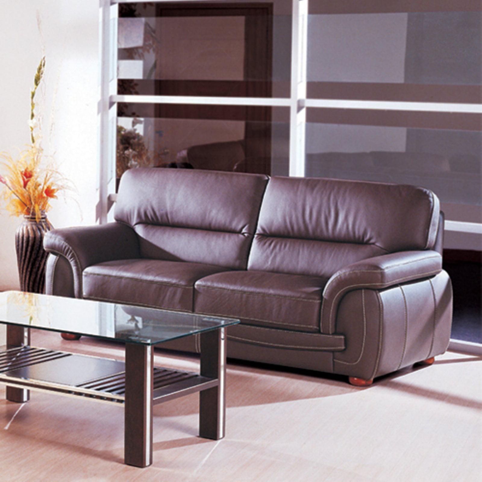 Sienna Leather Sofa Brown