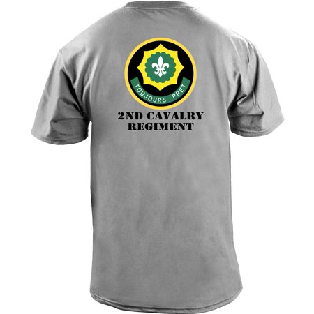 1st Cavalry First Team T-shirt - Army 2nd Cavalry Regiment Full Color Veteran T-Shirt