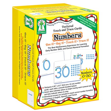 Textured Touch and Trace: Numbers : The Best Multisensory Experience for Learning Early Number Skills  and Correct Numeral (Best Way To Trace Ancestry)