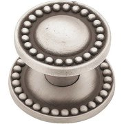 Brainerd 32mm Beaded Knob with Backplate, Available in Multiple Colors