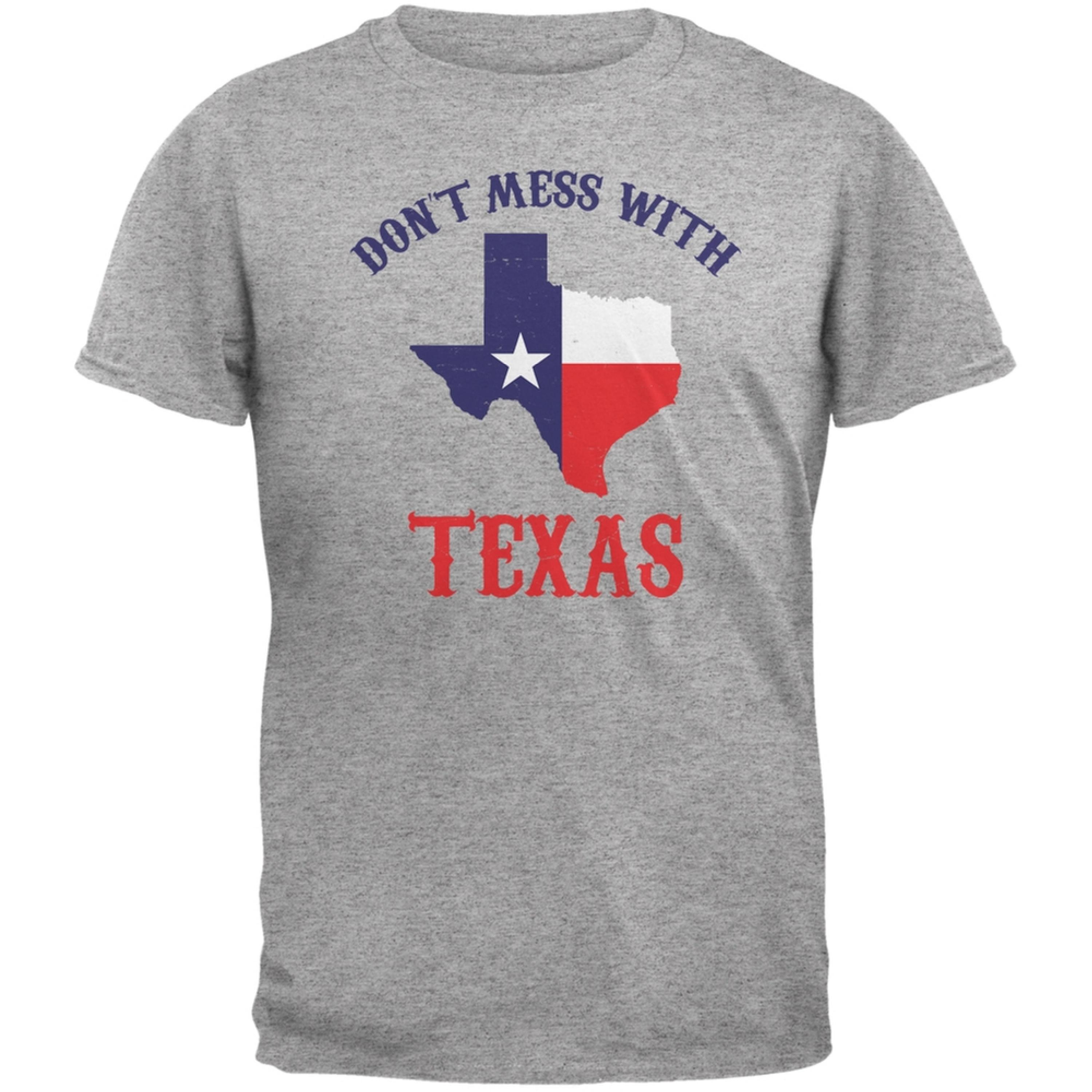 Don't Mess With Texas Heather Grey Adult T-Shirt