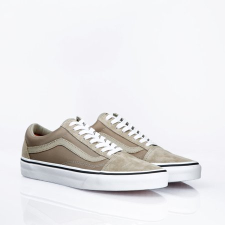 Vans Old Skool Boom Boom Silver Sage/True White Men's Skate Shoes Size 8.5 - Sparkly Silver Vans