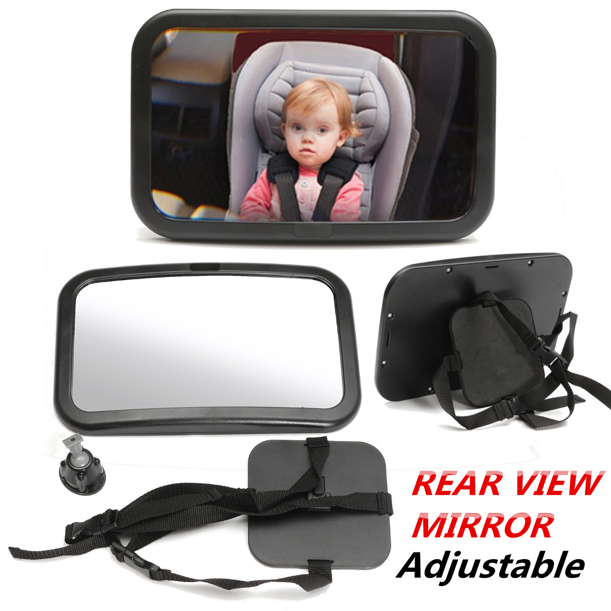 Adjustable Wide Car Seat Rear View Mirror Baby Infant Child Children Car Auto SUV Safety Security Headrest... by MATCC