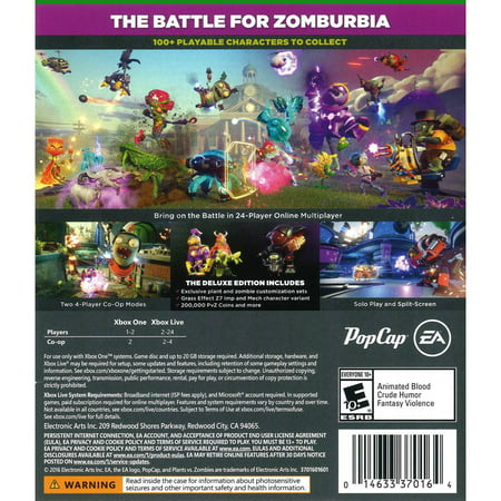 Plants vs Zombies: Garden Warfare 2 Deluxe Edition, Electronic Arts, Xbox  One, 014633370164