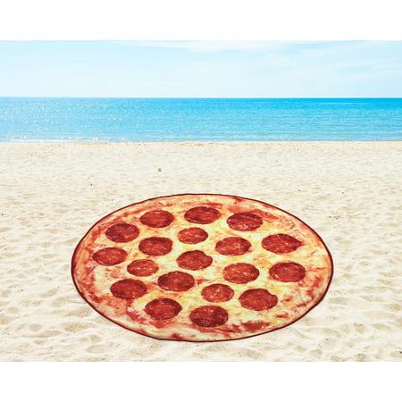 "Mainstays 58"" Round Pizza Beach Towel, 1 Each"