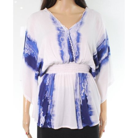 f02bb453fc Taylor & Sage Tops & Blouses - Taylor & Sage Blue Tie-Dye Women's Smocked  Top Blouse - Walmart.com