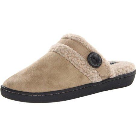 Woolrich Womens Kettle Creek Faux Fur Swipe Fade Mule Slippers - Walmart.com