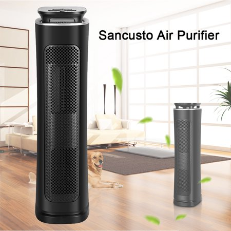 Sancusto Air Purifier, 3 Stages Filtration True Hepa Filter Air Cleaner, UV Light, Capture Allergens and Timer Function for Room and Office, ETL Certified, (Free Spirit Air Cleaner Cover)