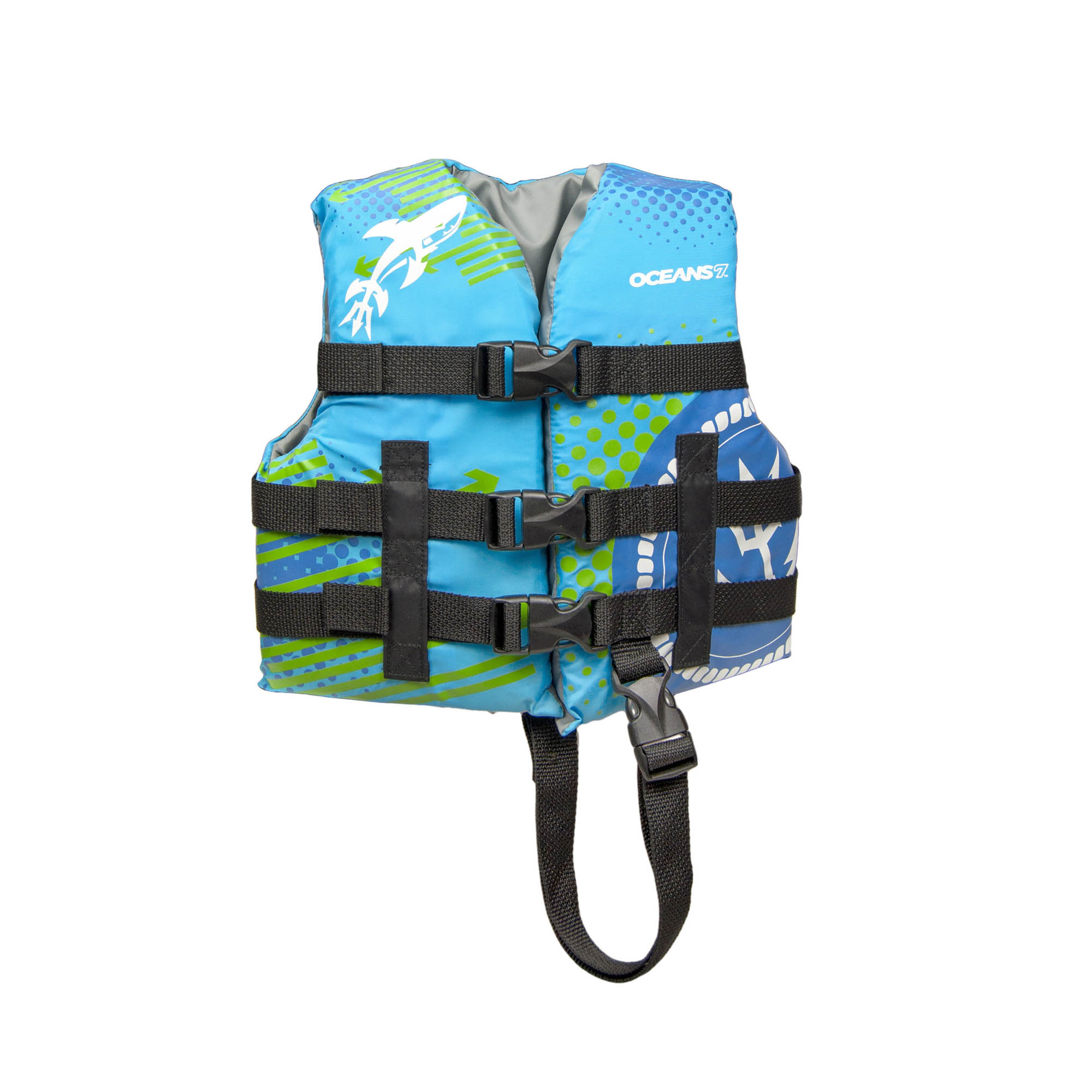 Oceans 7 USCGA 3 Buckle Youth Life Vest, Oxford Child, Aqua by AQUA LEISURE IND.