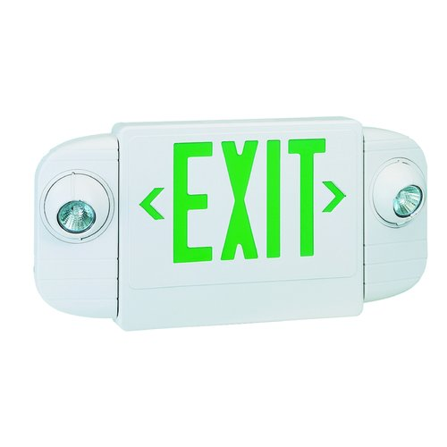 Royal Pacific Exit/Emergency Combo Halogen Light in Green