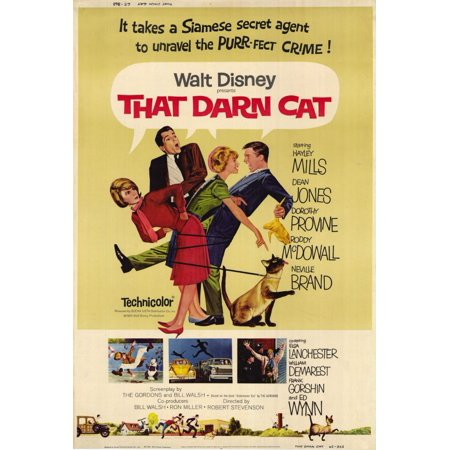 Cat Movie Poster (That Darn Cat - movie POSTER (Style B) (27