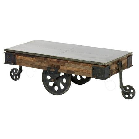 Harp Finial Mackinal Rectangular Coffee Table With Wheels