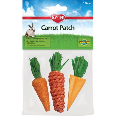 Super Pet-Chew Toy Carrot Patch- Orange 3 Pack