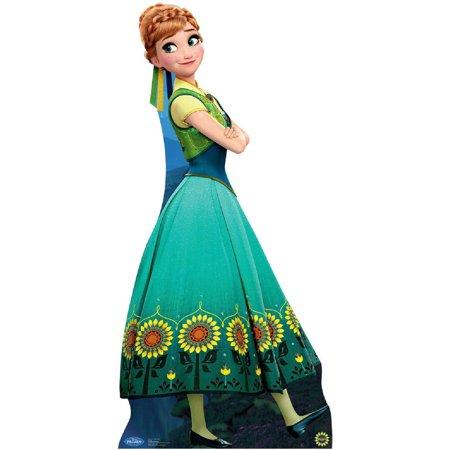 Disney's Frozen Fever Movie Anna Flower Dress Standup Standee Cardboard Cutout - Movies Dress Up