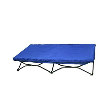 Regalo My Cot Portable Toddler Bed Includes Fitted Sheet And Travel Case Blue