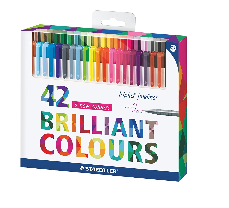 STAEDTLER 334 TB60 Triplus Fineliner Pens Box of 60 Assorted Color Markers