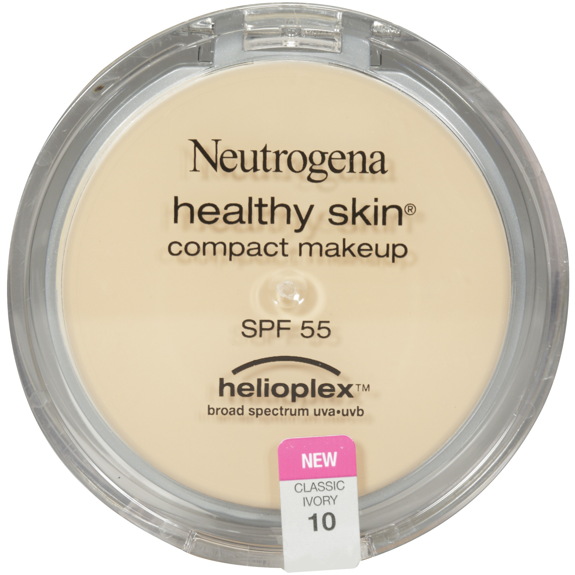 Neutrogena Healthy Skin Compact Makeup Broad Spectrum SPF 55, Classic Ivory 10, .35 Oz