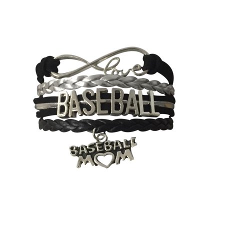 Baseball Mom Infinity Bracelet- Black -
