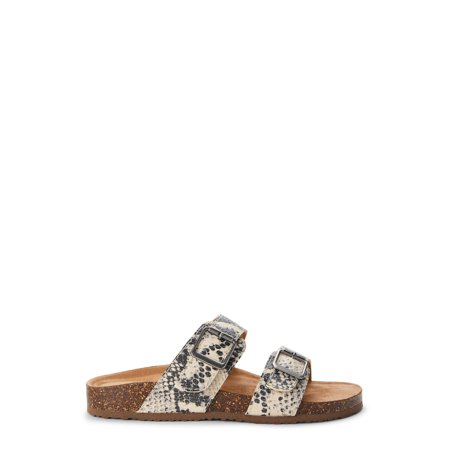 Time and Tru Women's Footbed Slides