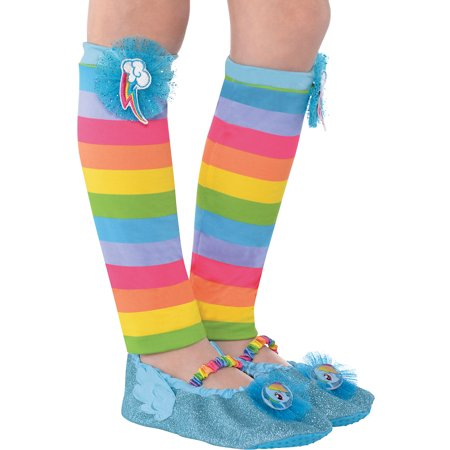 Suit Yourself My Little Pony Rainbow Dash Leg Warmers for Children, One Size up to Children Age 6, Feature a Cutie (80's Leg Warmers)