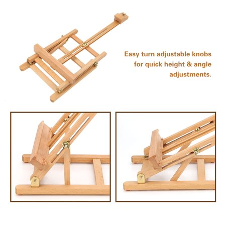 HURRISE Adjustable Height 106cm Tabletop Wood Studio H-Frame Easel Artist Painting Tool, Adjustable Easel, Wood Easel - image 7 of 12