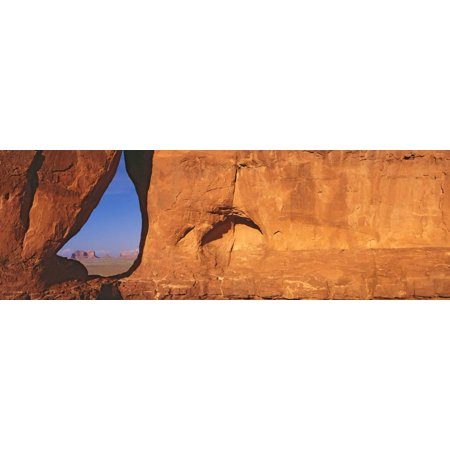 Teardrop Window, Monument Valley, Sunset, Arizona Print Wall Art By Panoramic Images