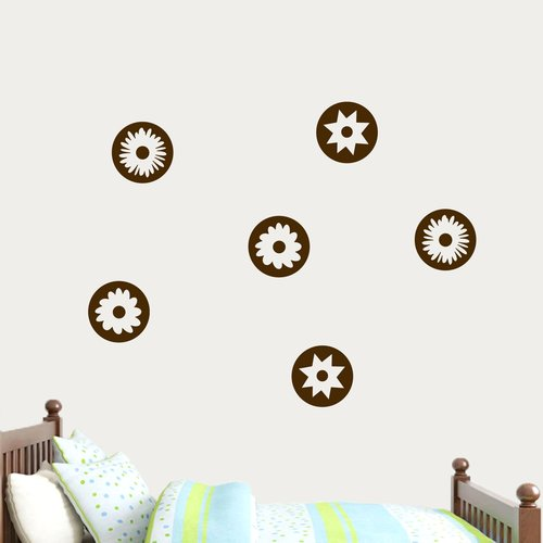 Zoomie Kids Andover Circle Flowers Wall Decal