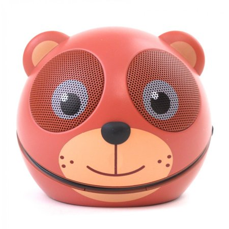Zoo Tunes MCS01 Compact Portable Character Stereo Speaker Teddy Bear