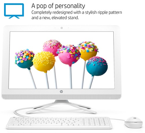 "HP 24-g010 All-in-One Desktop PC with AMD A8-7410 Processor, 4GB Memory, 23.8"" Monitor, 1TB Hard Drive and Windows 10 Home"